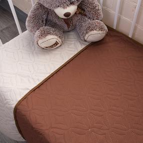 Покрывало детское ульрастеп двухстороннее 18-1029 коричневый 105/150 фото