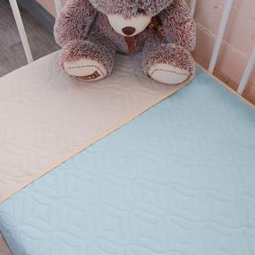 Покрывало детское ульрастеп двухстороннее 13-4409 голубой 105/150 фото