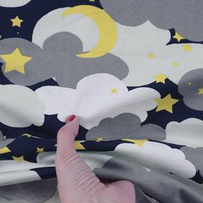 Ткань на отрез кулирка R4169-V1 Звездное небо цвет серый фото