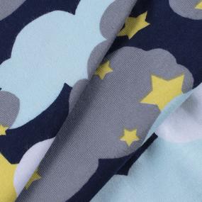 Ткань на отрез кулирка R4169-V2 Звездное небо цвет мята фото