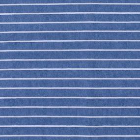 Ткань на отрез кулирка P1162-V1 Полоса цвет синий фото