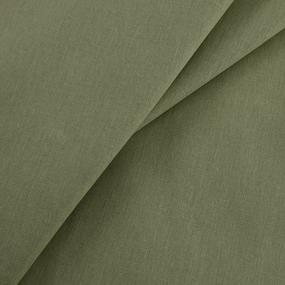 Ткань на отрез бязь гладкокрашеная 120 гр/м2 150 см цвет олива 02 фото