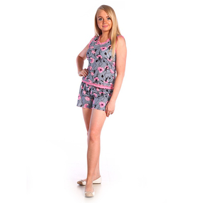 Пижама женская Майя кулирка размер 56 фото