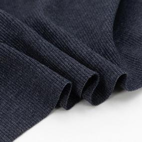 Ткань на отрез кашкорсе 3-х нитка с лайкрой цвет синий меланж фото