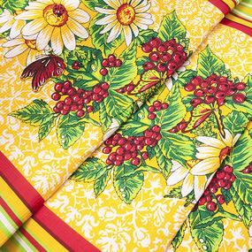 Вафельное полотно набивное 80 см 326А цвет желтый фото