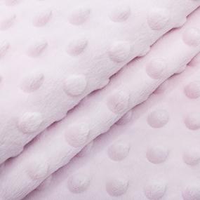 Мерный лоскут Плюш Минки Польша 160 см/45 см цвет розовый фото