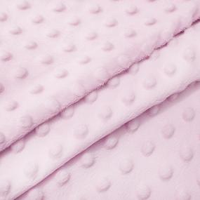 Мерный лоскут Плюш Минки Китай 180 см/74 см цвет розовый фото