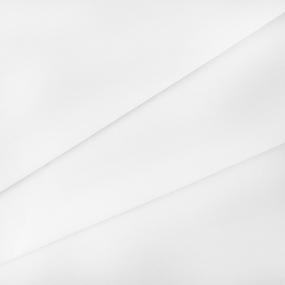 Ткань на отрез поплин гладкокрашеный 115 гр/м2 150 см цвет белый фото