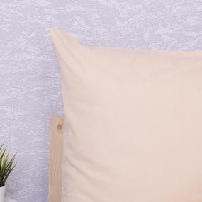 Наволочка Бязь гладкокрашенная цвет персик в упаковке 2 шт 70/70 см фото