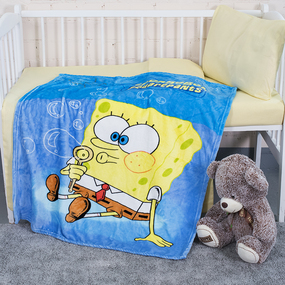 Плед детский велсофт SpongeBob 95/100 фото