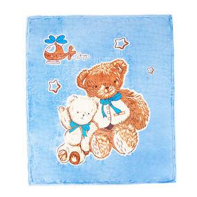 Плед детский велсофт Медведи 95/100 фото