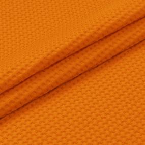Вафельное полотно гладкокрашенное 150 см 240 гр/м2 7х7 мм премиум цвет 164 оранжевый фото