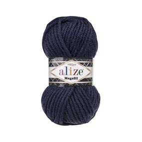 Пряжа ALIZE SUPERLANA MEGAFIL 58-темно-синий (25% шерсть 75% акрил) фото