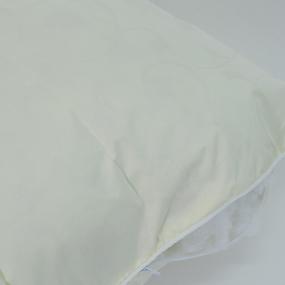 Подушка Лебяжий пух Вензель цвет зелено-желтый 50/70 фото