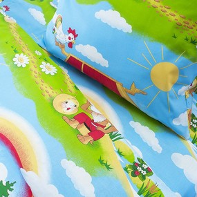 Детское постельное белье из бязи Шуя 1.5 сп 91391 ГОСТ фото