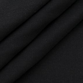 Ткань на отрез футер 2-х нитка начес 21-07 цвет черный фото