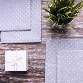 Набор детских пеленок поплин 4 шт 73/120 см 388/17 Горошек цвет серый фото