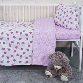 Постельное белье в детскую кроватку из бязи 1812/11+402/2 с простыней на резинке фото