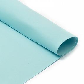 Фоамиран в листах 1 мм 50/50 см уп 10 шт MG.A019 цвет голубой фото