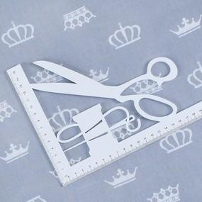 Ткань на отрез бязь плательная 150 см 1694/17 цвет серый фото