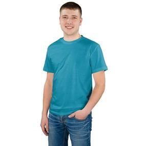 Мужская однотонная футболка цвет синий 48 фото