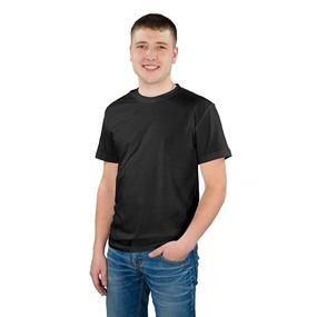 Мужская однотонная футболка цвет черный 48 фото