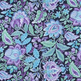 Ткань на отрез фланель 80 см 10720 Цветочная симфония фото
