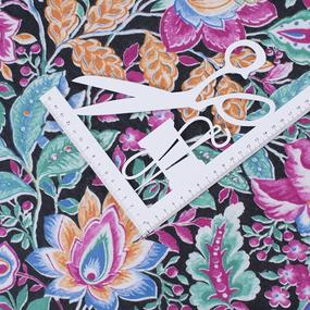 Ткань на отрез фланель 80 см 12710 Цветы фото