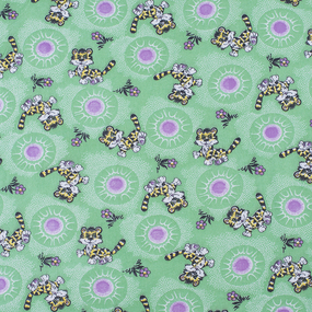 Ткань на отрез фланель 80 см 15720 Тигрята фото