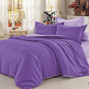 Полисатин гладкокрашеный 220 см цвет 18-3633 фиолетовый фото