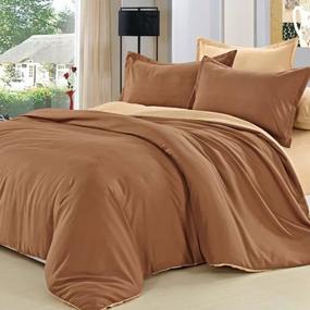 Полисатин гладкокрашеный 220 см 17-1520 цвет коричневый фото