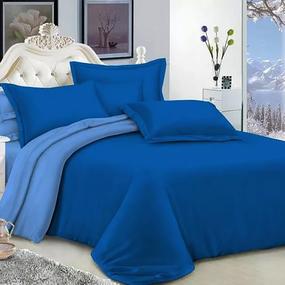 Полисатин гладкокрашеный 220 см цвет 18-4140 синий фото