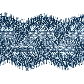 Кружево реснички 11см J038 синий упаковка 3 м фото