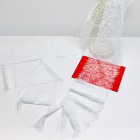 Кружево реснички 16см ХJ034 белый упаковка 3 м фото