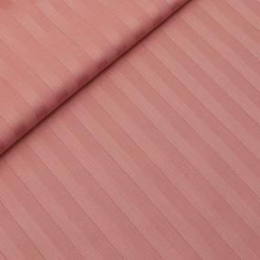 Пододеяльник страйп-сатин цвет коралловый 215/175 2-х сп фото