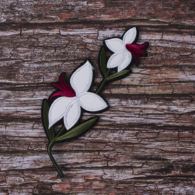 Термоаппликация ТАВ_Ц В36 цветок 7*20см фото