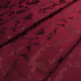 Ткань на отрез портьера жаккард 901/21 цвет вишня фото