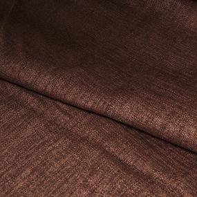 Ткань на отрез Blackout лен 91/15 цвет шоколад фото