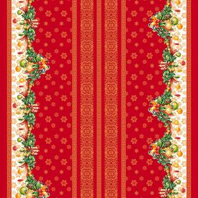 Ткань на отрез рогожка 150 см 11117/1 Рождество фото