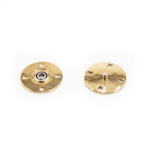 Кнопка металлическая золото КМД-3 №28 уп 10 шт фото