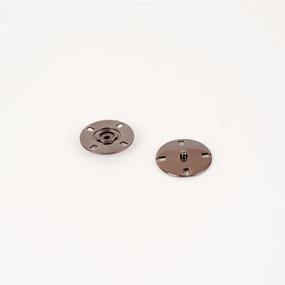Кнопка металлическая черный никель КМД-3 №28 уп 10 шт фото