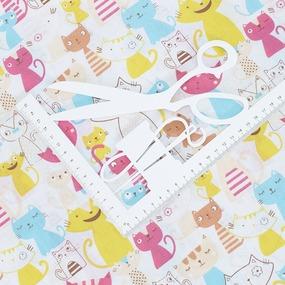 Ткань на отрез бязь плательная 150 см 2103/1 Веселые котята фото