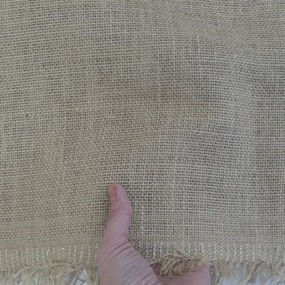 Ткань на отрез мешковина джут 49/60 360 гр/м2 01 фото