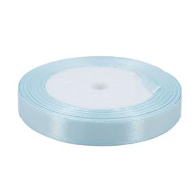Лента атласная 12мм 25ярд №011 цвет голубой фото