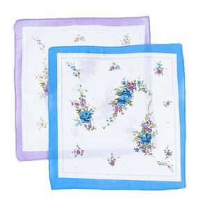 Платки носовые женские 28х28 Цветы 10 шт фото