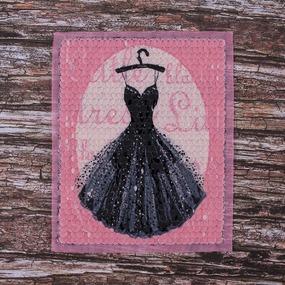 Декоративный элемент пришивной Платье 18*22,5 см фото