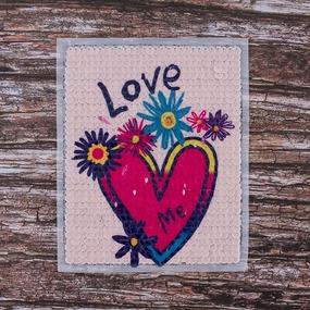 Декоративный элемент пришивной Сердце Love 19*23 см фото