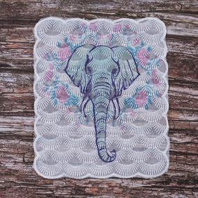 Декоративный элемент пришивной Слон 19*20 см фото