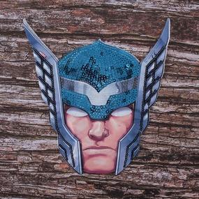 Декоративный элемент пришивной Супергерой 20,5*14,5 см фото