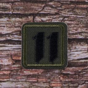 Нашивка Номер 11 3,2*3,2 см фото